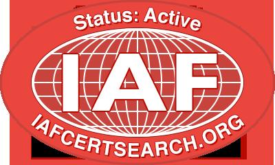IAF Certificate logo